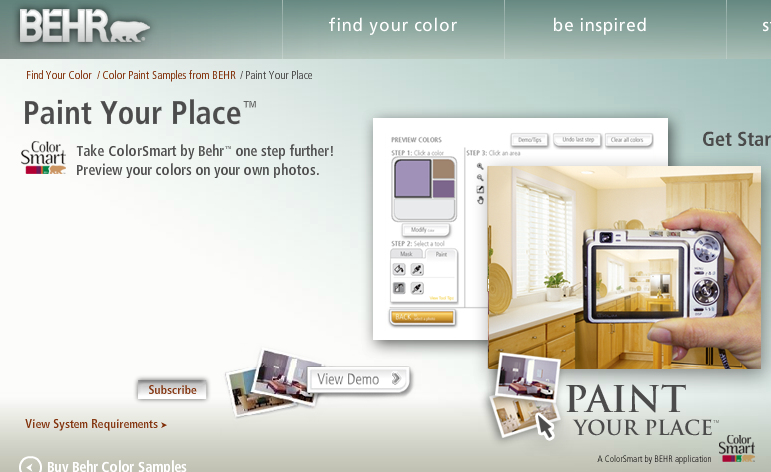 The Virtual + Visual: Paint your Home Online | Branding
